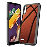 Moriko Case Compatible with LG K22 [Cute Fusion Gel Slim Fit Heavy Duty Men Women Girly Design Protective Black Case Phone Cover] for LG K22+ Plus Boost Mobile Android (Basketball)
