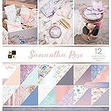 DCWV Card Stock 12'X12' Samantha Rose Premium Printed Cardstock Stack