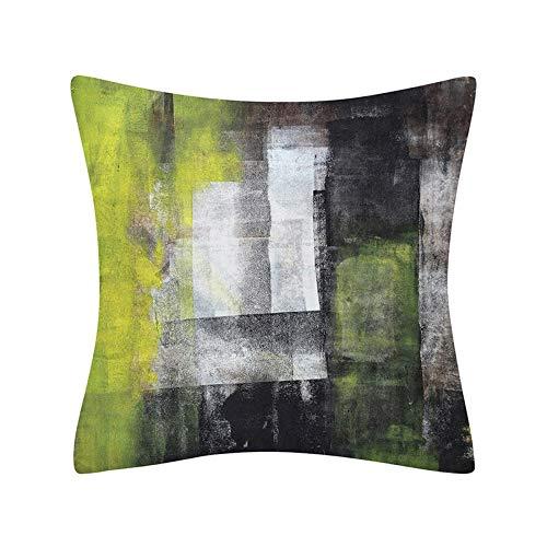 PPMP Funda de Almohada geométrica Abstracta Simple decoración del hogar Moderna sofá cabecera Funda de cojín Abrazo Funda de Almohada A25 45x45 cm 1pc