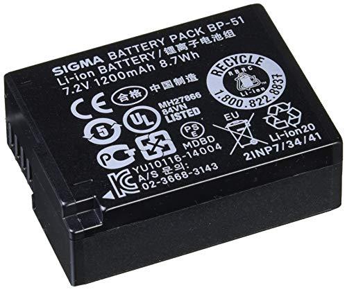 Sigma BP-51 - Batería/Pila recargable (1200 mAh, Cámara digital, iones de litio) Negro