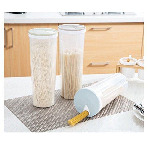 BESTOMZ Lebensmittelaufbewahrung Spaghetti-Nudel-Behälter Aufbewahrungsbox für Getreide, Müsli, Haferflocken, Nüsse, Bohnen (hellblau)