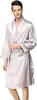 Men's Luxury Satin Kimono Lightweight Long Sleeve Nightwear Wrap/Robe/Dressing Gown