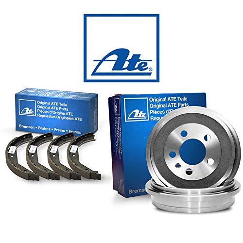 Original 2 Bremstrommeln Bremsbackensatz Hinten von ATE (1420-52222) Bremsanlage Bremstrommeln, Trommelbremse, Bremstrommel-Set, Bremstrommelsatz