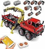 Maqueta de Camión Todoterreno Technic 8X8 con Control Remoto y 7 Motores-3000PCS, Compatible con Lego