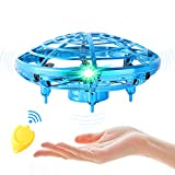 Flying Toy Mini Drone for Kid, Hand Controlled Flying Ball with LED Light
