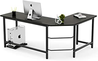 Tribesigns Modern L-Shaped Desk Corner Computer Desk PC Laptop Study Table Workstation..