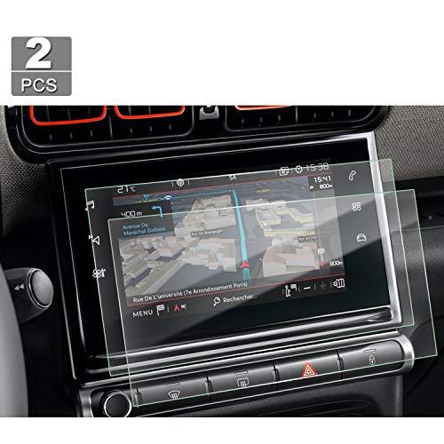 [2 piezas] Protector de pantalla para navegación de 9,7 pulgadas Citroen C3 C4 Cactus - LFOTPP Protector de pantalla de plástico transparente PET Film