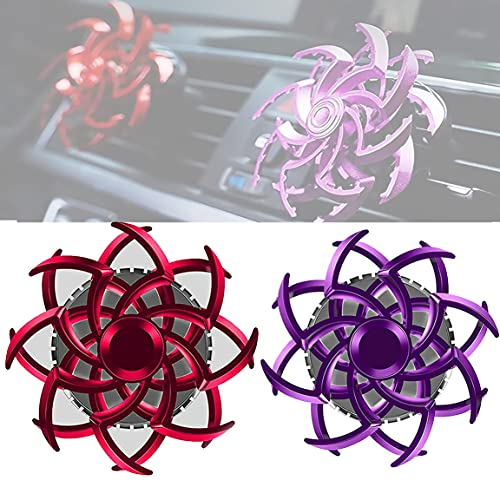 YWSM 2PCS Car Perfume Spinning Spider Air Conditioning Vents Decorative, Car Double Spiral Air freshener, Vent Aromatherapy Machine Car Air freshener Car