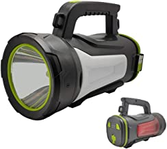LED Rechargeable Flashlight, Glare Portable Searchlight, Multi-Function Outdoor Emergency Portable Light with Double Side ...