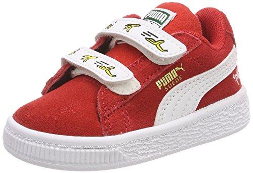Puma Minions Suede V Inf, Unisex-Kinder Sneaker, Rot (HIGH Risk RED-PUMA White), 24 EU (7 UK)
