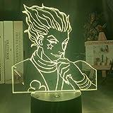 Solo 1 pieza Gon y Killua figura 3d luz nocturna Anime Hunter X Hunter luz para decoración de dormitorio de chico iluminación regalo para niños lámpara HxH de cabecera