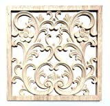 12' 12' or 30CM Carved Wood Wall Hanging Panel Art project Sculpture Square F107