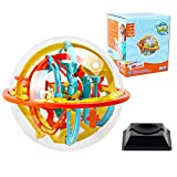 Maze Ball, 3D Puzzle Games Intellect Ball (19cm/7.48'') with 110 Challenging Barriers Education 3D Labyrinth Ball for Kids 3D Puzzle Toys Magical Maze Ball Brain Teasers Puzzle Games