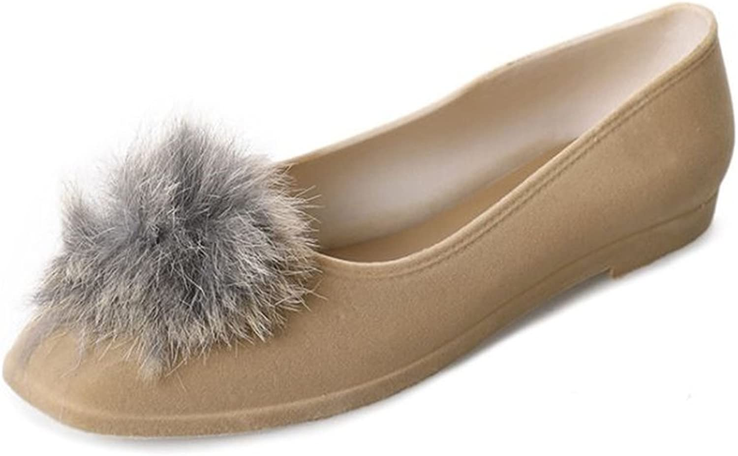 Set adil Womens Fur Slippers Slides Indoor Outdoor Flat Soles Soft Summer shoes