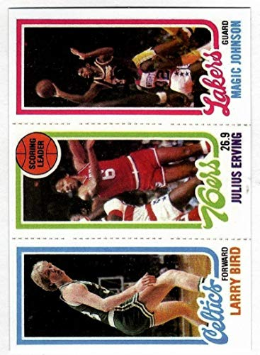 1980-81 Larry Bird Julius Erving Magic Johnson Topps Rookie Card HOF REPRINT - Basketball Card