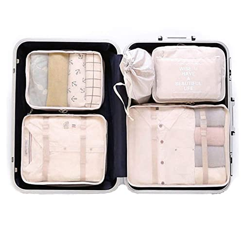 OEE 6 pcs Luggage Packing Organizers Packing Cubes Set for Travel 85dcbf049539a