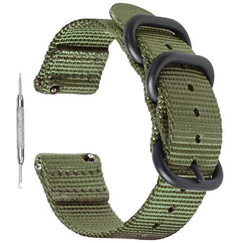 Zeit Diktator Correa de reloj de liberación rápida de 18 mm, 20 mm, 22 mm, 24 mm, 26 mm, nailon para hombres y mujeres, color opcional