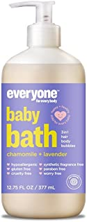 Everyone Tear Free Hypoallergenic Soft Skin Baby Wash, Calming Chamomile and Lavender, 12.75oz, 6 Count