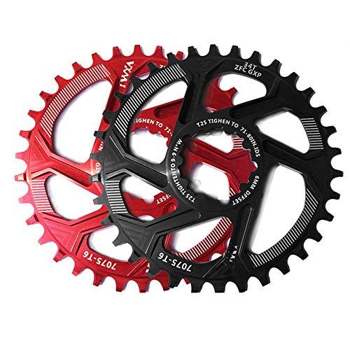 Engranaje de plato Plato de bicicleta GXP Juego de bielas de bicicleta Aleación de aluminio 30T 32T 34T 36T 38T Rueda de cadena estrecha estrecha for Sram XX1 XO1 X1 GX XO X9 Piezas de bicicleta