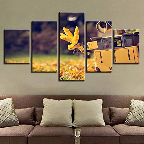 binghongcha 5 Partes impresión Panel Impresiones HD Bodegón Maple Leaf Camera Pared decoración del artísticos para Interiores