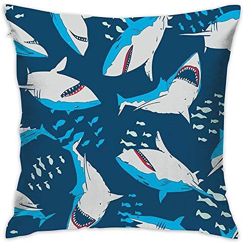 July decoratieve kussenslopen tegels Cartoon Hai kussenslopen kussenslopen voor bank slaapkamer auto stoel