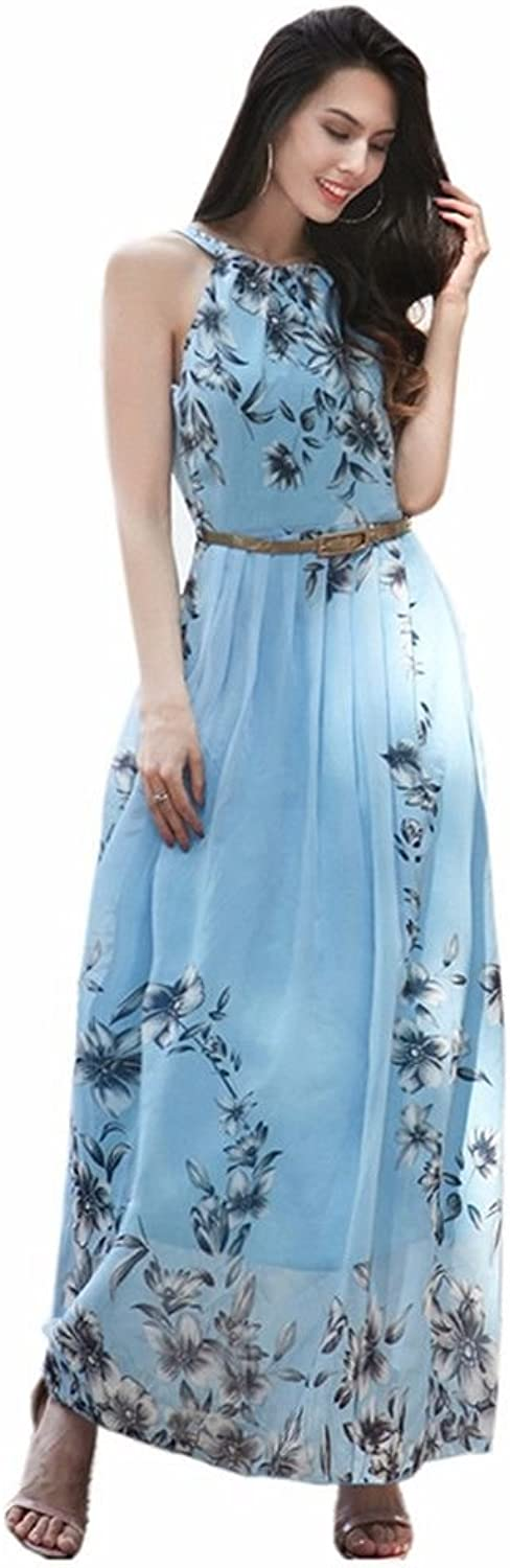 NSSBZZ Beautiful Women Holiday Dresses and Dresses with Long Skirts and Snow Spun Dresses bluee M