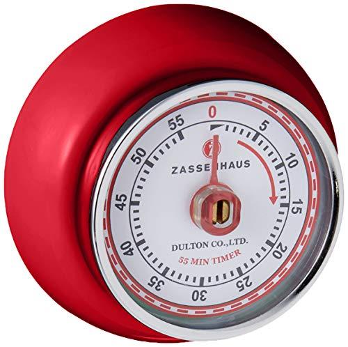 Zassenhaus Speed Küchentimer, Edelstahl, Rot, 7 cm