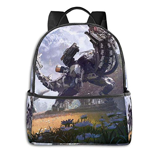 Jupsero Bolsa de viaje Bolsas para portátil Game Horizon Zero Dawn Backpack Smooth Zipper Travel Bag Laptop Bags ,Suitable for College, School, Casual Daypacks 14.5 x 12 x 5 Inch