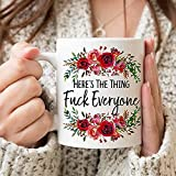 N\A Here_s La Cosa F_CK Todo el Mundo Taza de café Mi Favorita Asesinato Ssdgm Mfm Taza MFM-Regalo Taza Set-Regalo para