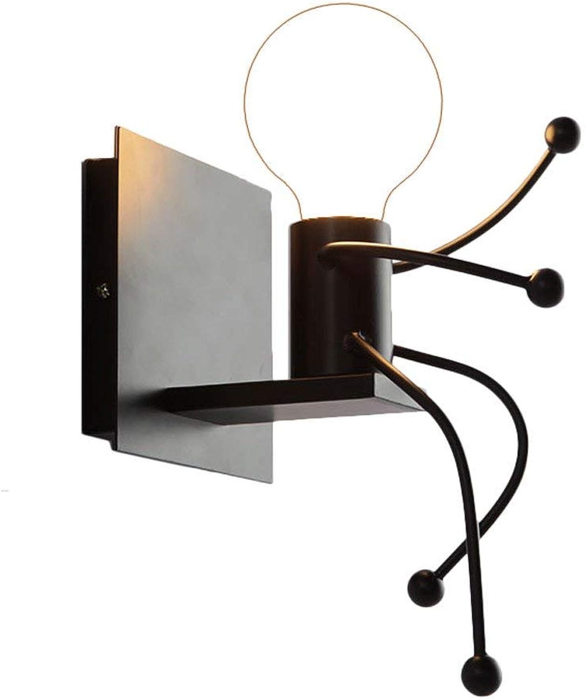 WENYAO Kreative Persnlichkeit Einfache Moderne Wohnzimmer Schlafzimmer Nacht Kunst Villa Korridor Flur Lampe Doppelscheinwerfer E27 (Gre  13 cm x 13 cm x 28 cm)