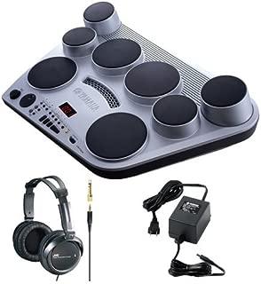 Yamaha DD65 Portable Digital Drum + Full-Size Headphones (Black) + Yamaha AC Power Adapter