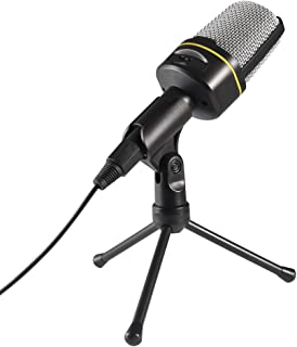 Sunsbell PC Microfoon, 3,5mm Jack Condenser Opname Microfoon met Microfoon Stand Werken met Laptop, Mac, Smartphone voor G...