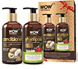 WOW Apple Cider Vinegar Shampoo - WOWsome Twosome No Parabens & Sulphates Hair Care Package –...