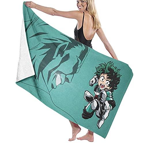 My Hero A-cademia D-EKU - Toalla de baño unisex súper suave, súper absorbente y de secado rápido, para viajes, playa, fitness, 80 x 130 cm