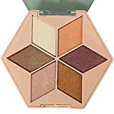 Hinder Paleta de sombras de ojos de maquillaje profesional, paleta de sombras de ojos de 6 colores Maquillaje Nude Matte Glitters Shimmers Tonos base Larga duración Impermeable