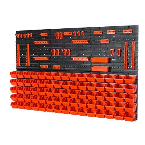 Set di 81 elementi + ganci con contenitori IN-Box colore: arancione mis.1 POP serie
