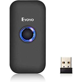 Eyoyo Mini 1D Bluetooth Barcode Scanner, 3-in-1 Bluetooth & USB Wired & 2.4G Wireless Barcode Reader Portable Bar Code Scanning Work with Windows, Android, iOS, Tablets or Computers