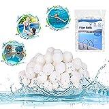 Balles Filtrantes, Boules de Filtre de Piscine 500g, Boule filtrante Lavable et réutilisable, Alternative pour Sable Filtrant de 28 kg, Convient pour la Filtration d'aquarium de Piscine