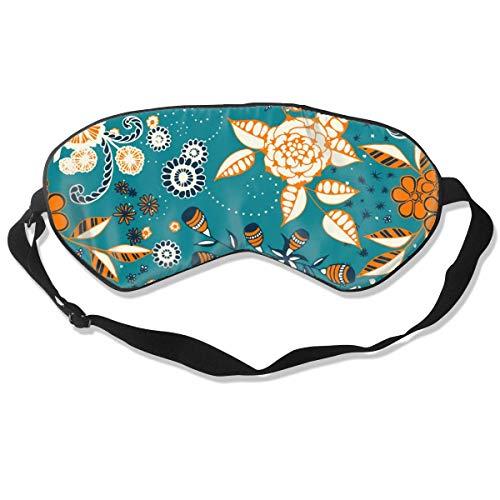 JDYU Máscara de ojos para dormir Carpas Koi Cubierta de máscara de ojos de seda natural con correa ajustable