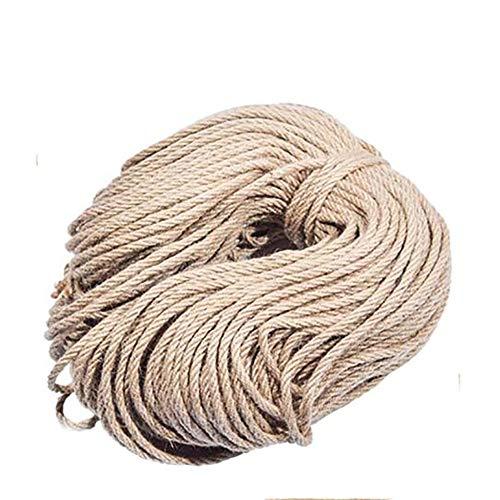 AcserGery - Cuerda de sisal natural para árbol rascador y gatos, 30 m de grosor, cuerda de cáñamo para manualidades, diámetro interior 6 mm