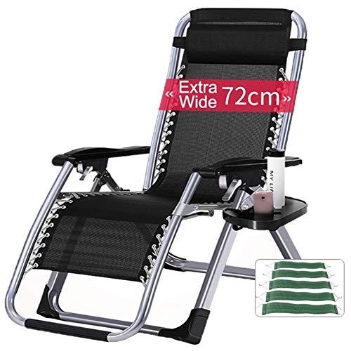 LXYZ Chaises de Jardin surdimensionnées inclinables avec Porte-gobelets et Coussins pour Les Personnes Lourdes Chaise Portable de Camping de Plage extérieure sans gravité, supporte 440 LB