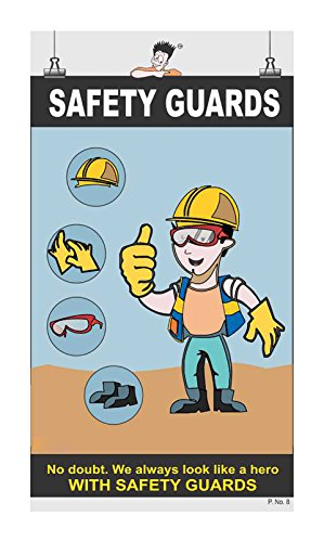 Posterkart PPE Safety Poster Guards, 66 x 36 x 1 cm, Multicolour, Paper