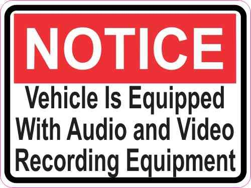 3in x 2.25in Notice Audio and Video Recording Sticker