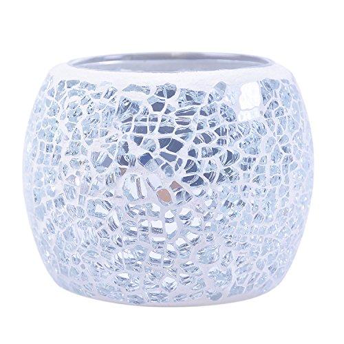 キャンドルホルダーキャンドルスタンドボールカップ手作りモザイクガラス製ステンドグラスアンティーク置物インテリア照明ティーライト用転運癒しリラックスロマンチック雰囲気ホワイトデーギフト/写真小道具/ホームインテリア/バー/結婚式飾り