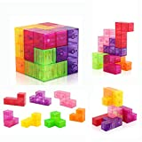 Crystal magnetic cube – D-FantiX magnetic cube includes 7pcs 3D geometry Crystal puzzle with 54pcs guide cardstock 108 puzzles), different shape and colors. Kids can arrange hundreds of cube shape as they want. Different colors is good color recognit...