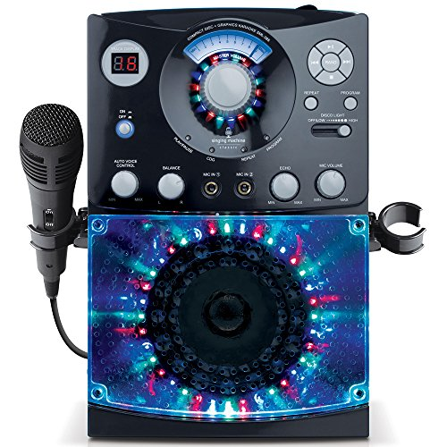 Singing Machine SML385BTBK Karaoke System with LED...