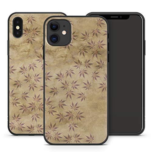 Handyhülle Weed für iPhone Apple Silikon MMM Berlin Hülle Gras Marihuana Cannabis Hanf, Kompatibel mit Handy:Apple iPhone Xr, Hüllendesign:Design 6   Silikon Schwarz