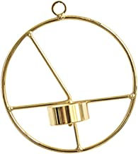 F Fityle Round Geometric Tealight Candle Holder Metal Wire Frame Wall Candlestick - A, 15cm