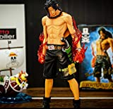 Anime One Piece Portgas D Ace Fire Punch Figura New World Version PVC Collezionabile Modello grande Action Figure Decorazione Ornamenti 26CM