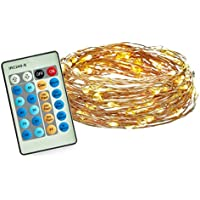 Radiance 33-Feet Dimmable Starry String Lights, Copper Wire, Warm White